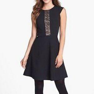 Betsy Johnson Black Lace Dress Sz10